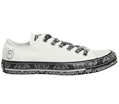 9557cb7af3ec8f Converse Womens Chuck Taylor All Star-OX Miley Cyrus Weiss Schwarz Sneaker  Low 35