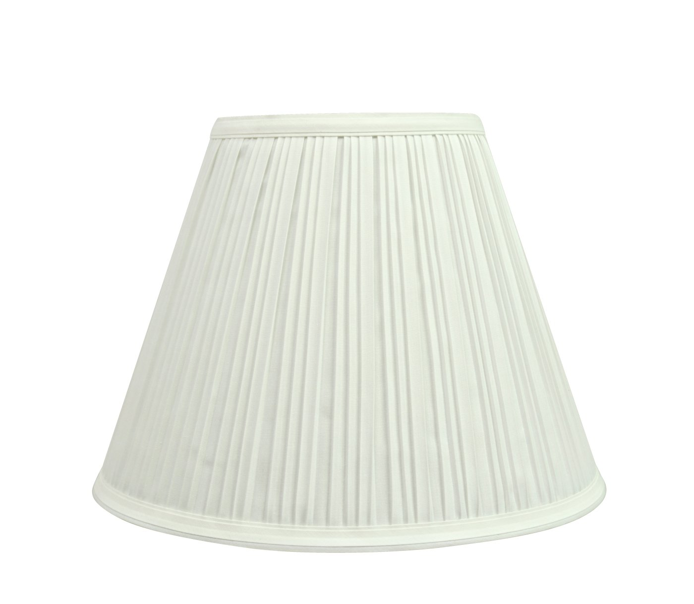 Aspen Creative 59101 Transitional Pleated Empire Shape UNO Construction Lamp Shade 10'' Wide, 5'' x 10'' x 8'', Off White