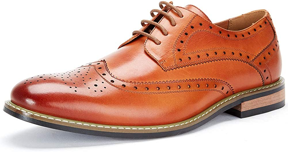 Brogue Formal Shoes Lace-up Oxford Shoes Cestfini Leather Wingtip Dress Shoes for Men Business Casual Shoes