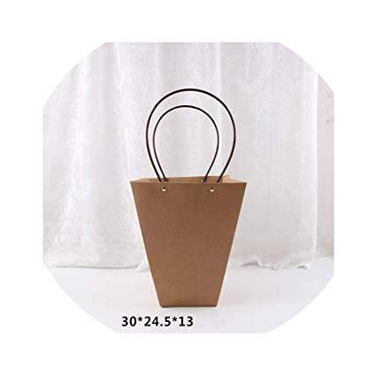 Amazon.com: Kraft bolsas de papel de flores caja con asa ...