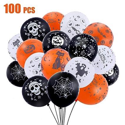 Anaoo 100 Pack Ballons Halloween Ballon De Baudruche Orange