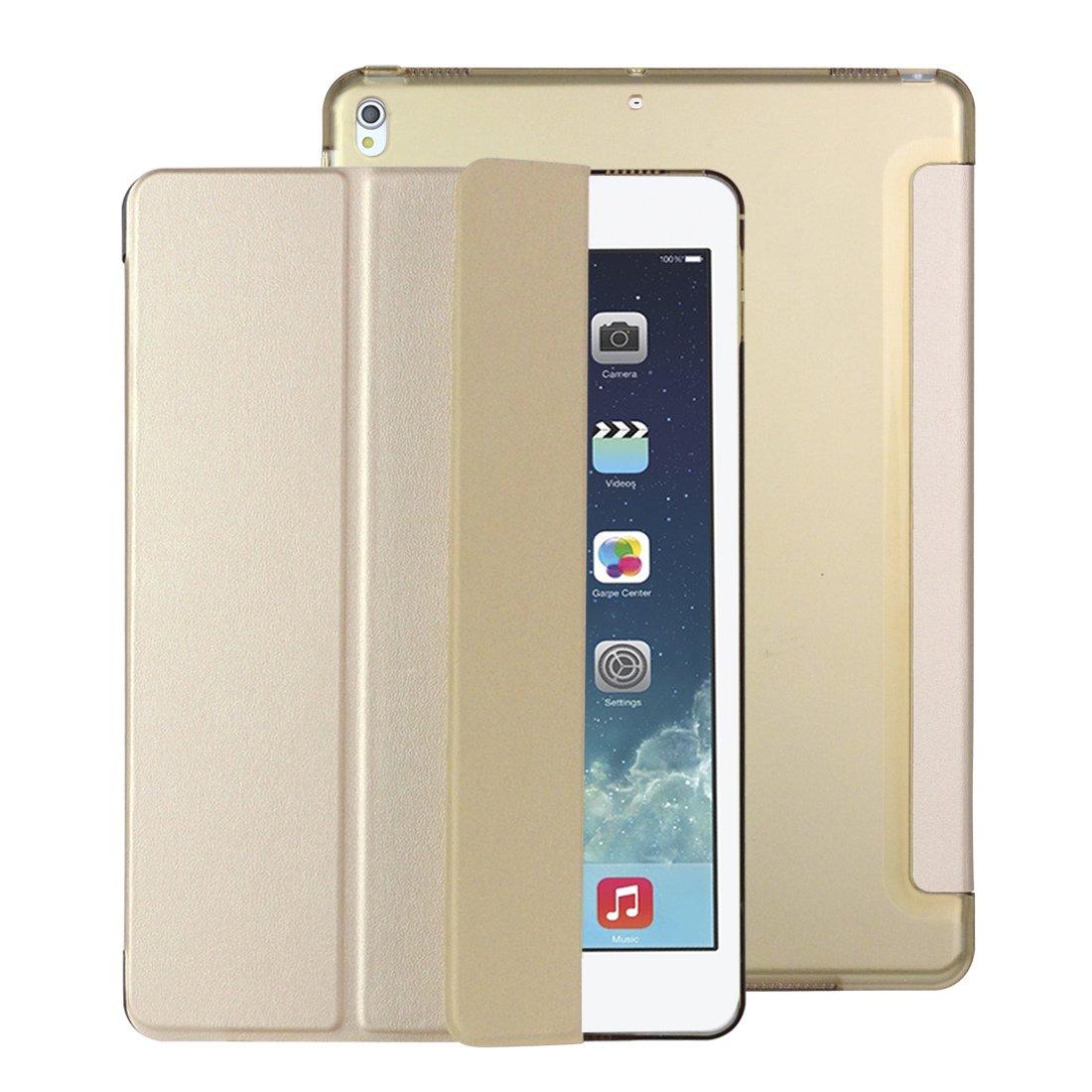 iPad Pro 10.5 Coque,Goojodoq Fin à Premium PU Cuir Smart Cover Support Pliant d'écran Avec Translucide Givré PC Protection Coque Arrière pour iPad Pro 10.5, Avec Fonction de Veille/Réveil Automatiquer GOOJODOQA207case-3