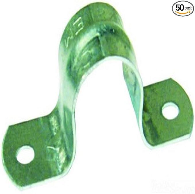 L.H 2-Inch Zinc Plated 50-Pack Dottie HW406 2 Hole Conduit Strap