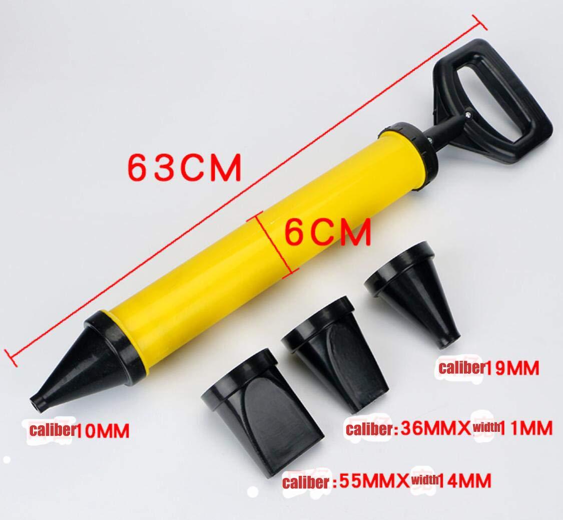 Calafateo pistola de cemento cal Bomba Inyecci/ón de mortero pulverizador Aplicador lechada de relleno Herramientas con 4 boquillas