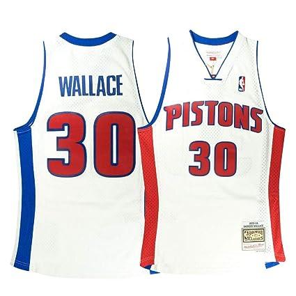83ec900cf Mitchell   Ness Rasheed Wallace NBA Detroit Pistons Men s 2003-04 Home  Swingman White Jersey