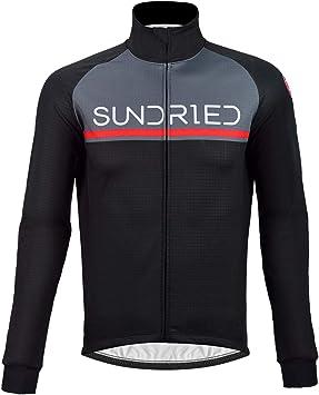 Sundried Hommes Veste de cyclage Thermique imperm/éable Hiver v/élo v/êtements Coupe-Vent v/élo de Route et VTT