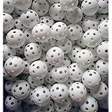 Faswin 100 Pack White Plastic Golf Training Balls, Airflow Hollow 5 inch Golf Balls for Driving Range, Swing Practice, Home U