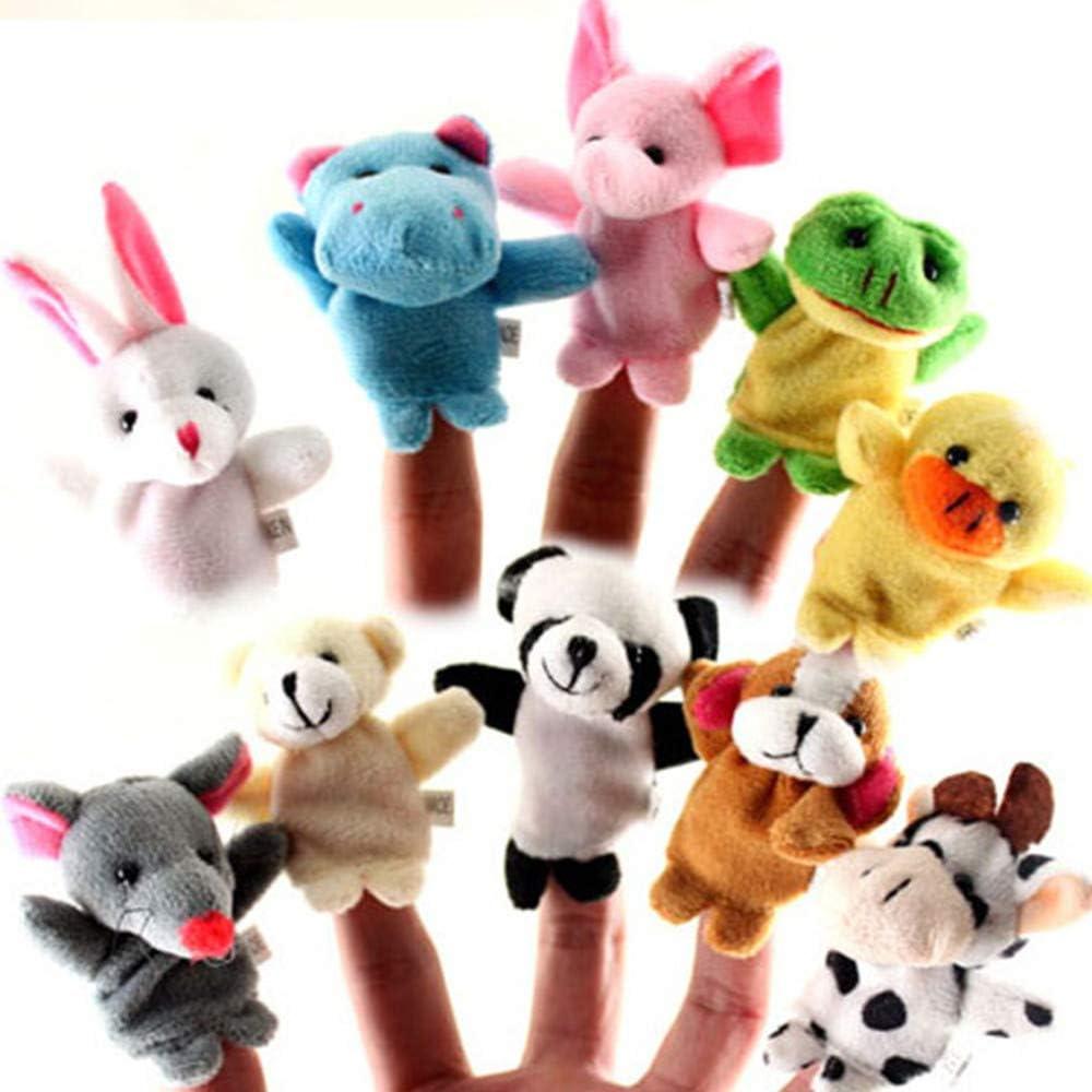 Ogquaton Premium Quality Animal Finger Puppet Set Toy Educational Toys Storytelling Doll 10 Pcs