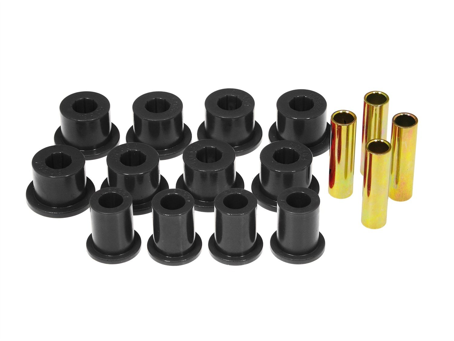 Prothane 18-1006-BL Black Rear Spring Eye and Shackle Bushing Kit by Prothane