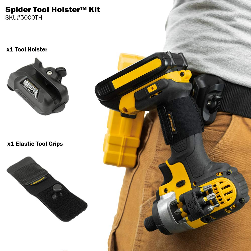 Spider Tool Holster Set - Improve the way you carry and organize tools on your belt! by SPIDER