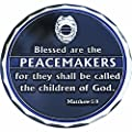 Blessed are The Peacemakers St Michael Protect US Police Shield Challenge Coin from Rescuetees