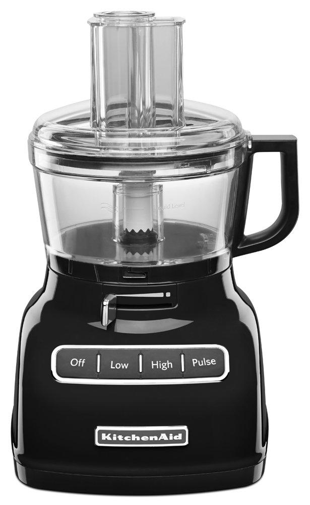 KitchenAid KFP0722OB 7-Cup Food Processor with Exact Slice System - Onyx Black