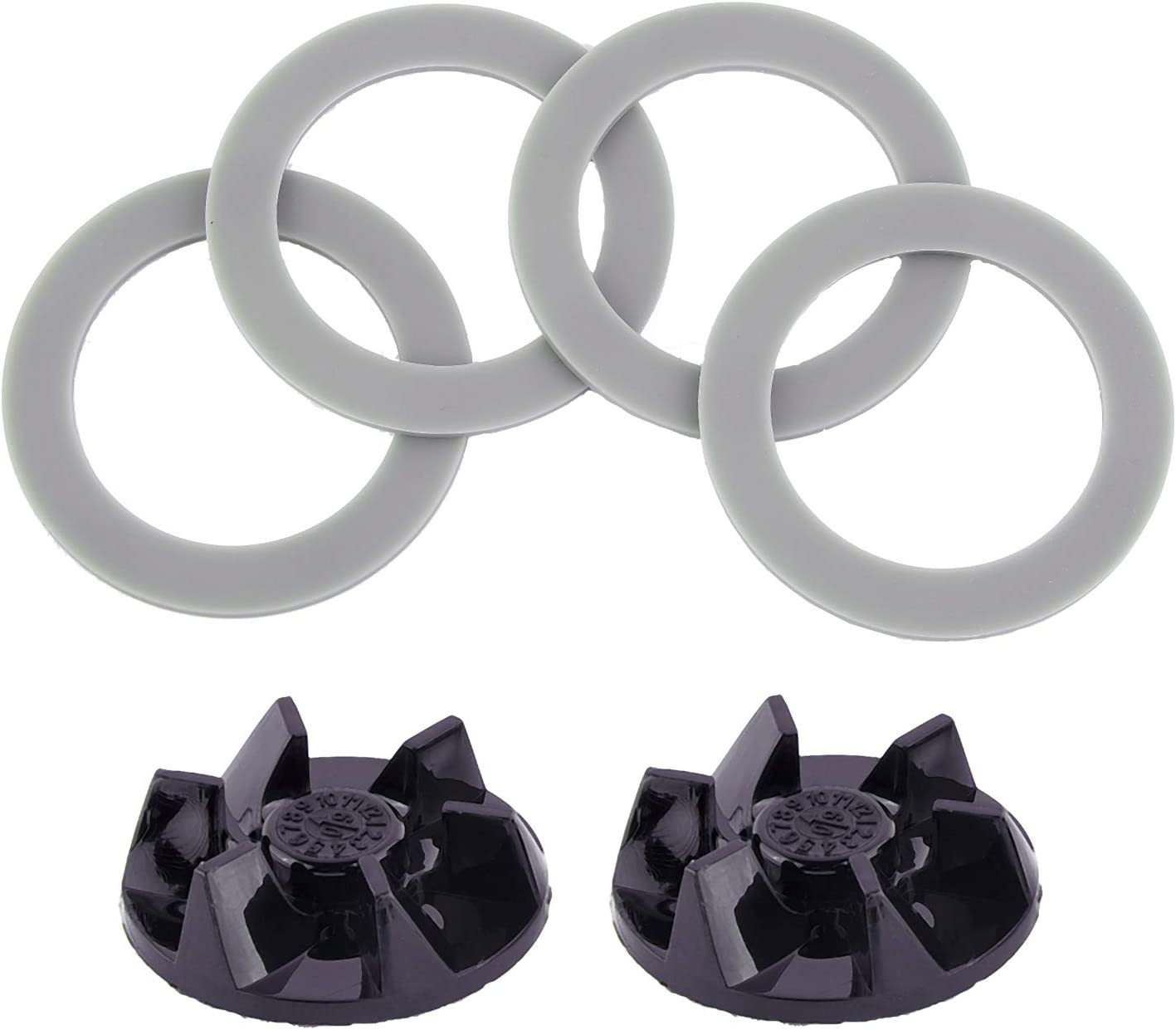 Timsec 4Pcs Blender Rubber Gasket Sealing O-ring CUCB-456-3 and Blender Blade Driver Clutch SPB7-20TXN, Replacement Parts Compatible with Cuisinart Blenders BFP703 CB7 CB8 CB9 CBT-500