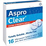 Aspro Aspro Clear Extra Strength Pain Relief 16 Soluble Effervescent Tablets, 16 count