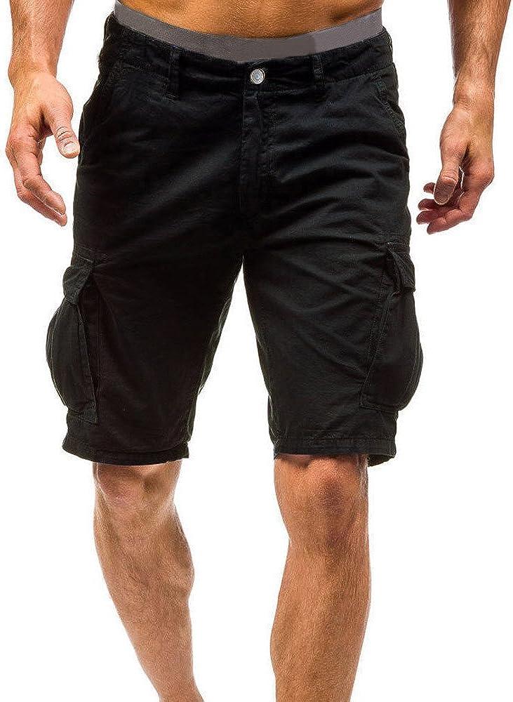 Pantaloni Cargo Estivi da Uomo Bermuda Cargo Uomo Shorts Pantaloncini Uomo Corti Mare Eleganti Pantaloncini da Uomo Sport Lavoro Casual Combat Cargo Shorts Pantaloni Pantalone