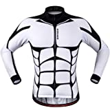 WOLFBIKE Men Cycling Jersey Bicycle Bike Cycle Short Sleeve Jersey Jacket Comfortable Breathable Shirts Tops, 4D Cushion Padded Shorts Tights Pants Sportswear Suit Set Breathable Quick Dry