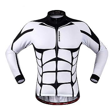 20f735443 Wolfbike Unisex Long Sleeve Shirt Cycling Jerseys Warm Riding Clothing S