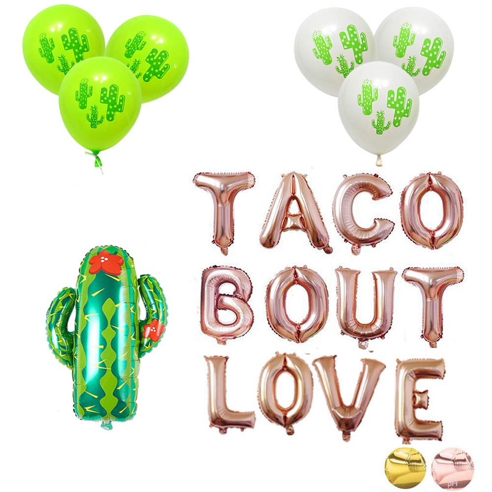 16'' Rose Gold Foil Balloon Balloons Taco Bout Love Cactus Engagement Anniversary Bridal Shower Girl Night Out Fiesta Cactus Party Theme