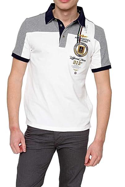 f62b7f4f6b Aeronautica Militare Maglietta Polo POLO M.C., uomo, Colore: Bianco ...