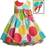 Bonnie Jean Baby Girls Polka Dot Balloon Birthday Dress , Multi , 12M - 24M