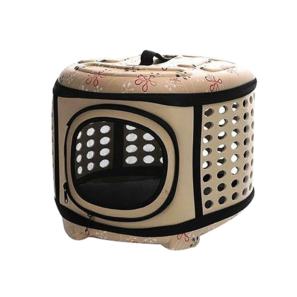 Beige L Beige L Afco Portable Carrier Cat Dog Folding Breathable Tote Shoulder Bag Travel Outdoor Beige L