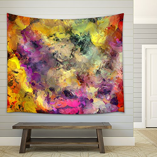 Colorful Abstract Painting Fabric Wall
