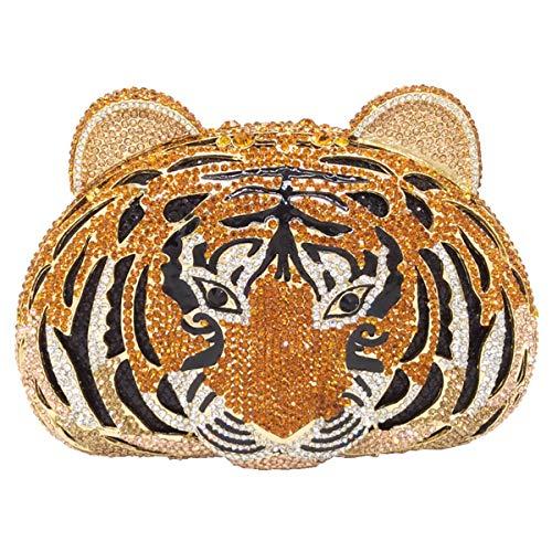 Sac À Main De Mariage Avec Strass Embrayage Femme Soirée Sac À Main Bourse Bourse Cérémonie Embrayages Orange Tigre
