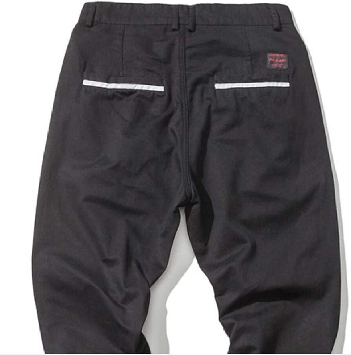 ONTBYB Mens Casual Loose Jogger Sport Harem Baggy Pants Trousers with Pockets