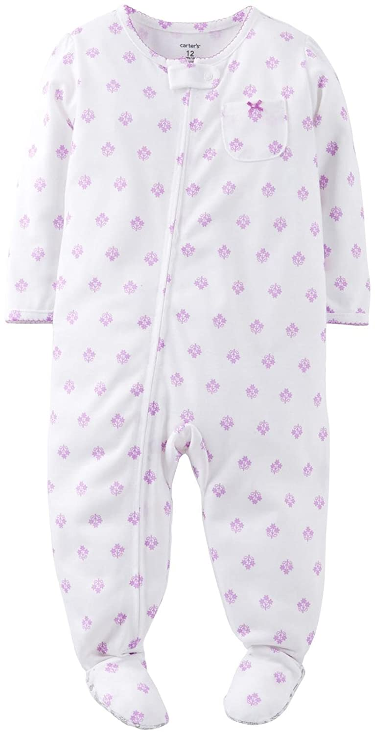 Ditsy Flower-5T Toddler//Kid Carters Jersey Print Footie
