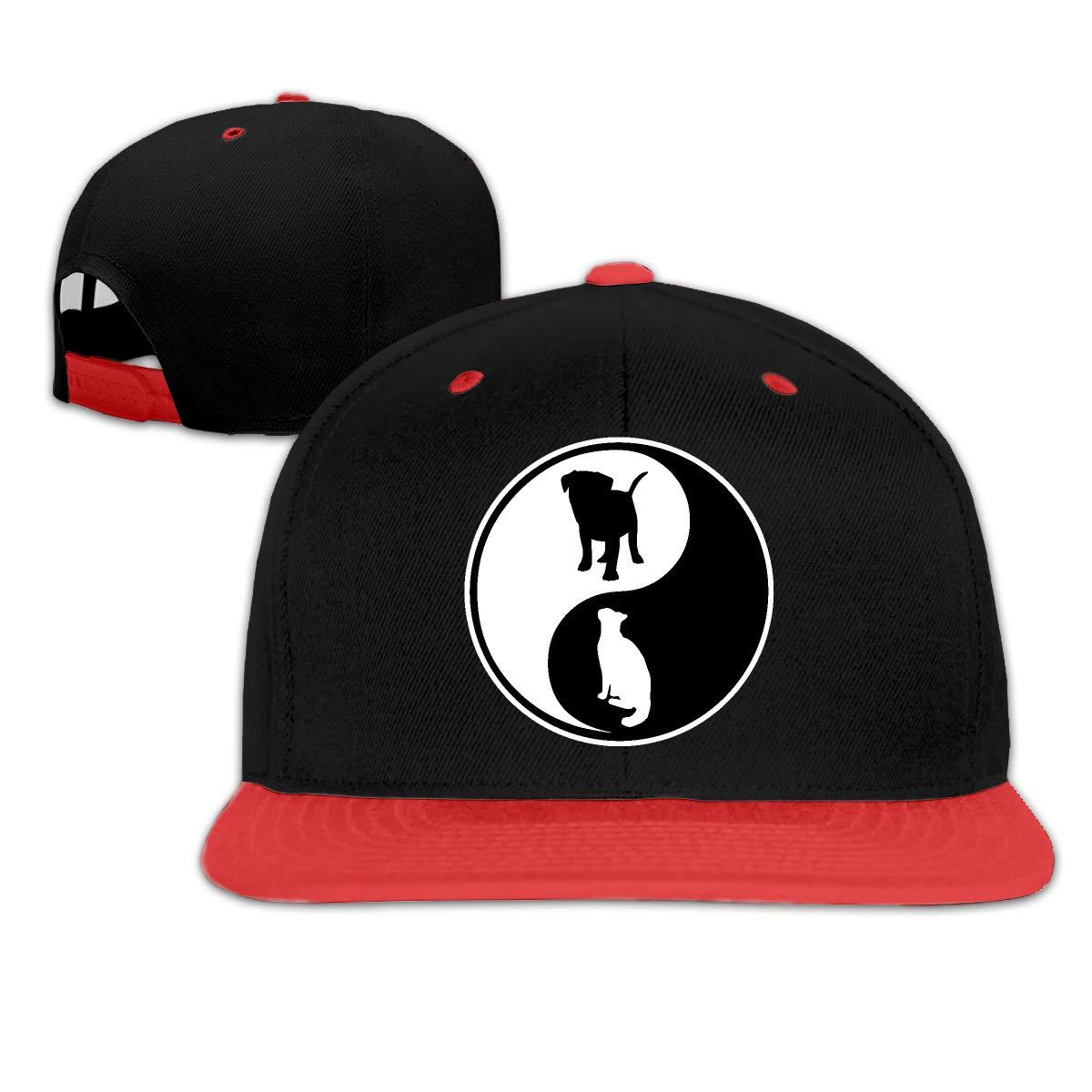 Yin Yang Dog and Cat Adjustable Dad Cap Baseball Hat