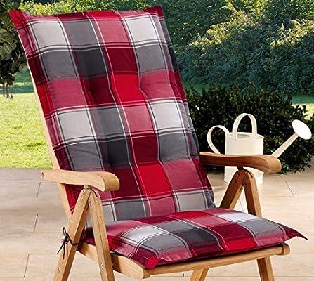 Schwar Textilien - Cojines para sillas de jardín con respaldo alto ...