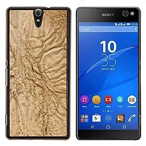 YiPhone /// Prima de resorte delgada de la cubierta del caso de Shell Armor - Arena Naturaleza Playa Desierto Marrón Tierra del Suelo - Sony Xperia C5 Ultra