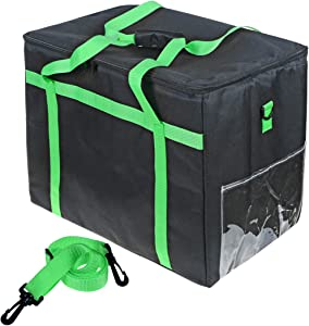 PENCK Insulated Delivery Food Bag Carrier Waterproof Grocery StorageCollapsible Extra Large Reusable Shopping Tote Zipper Top Lid for Hot or Cold Food