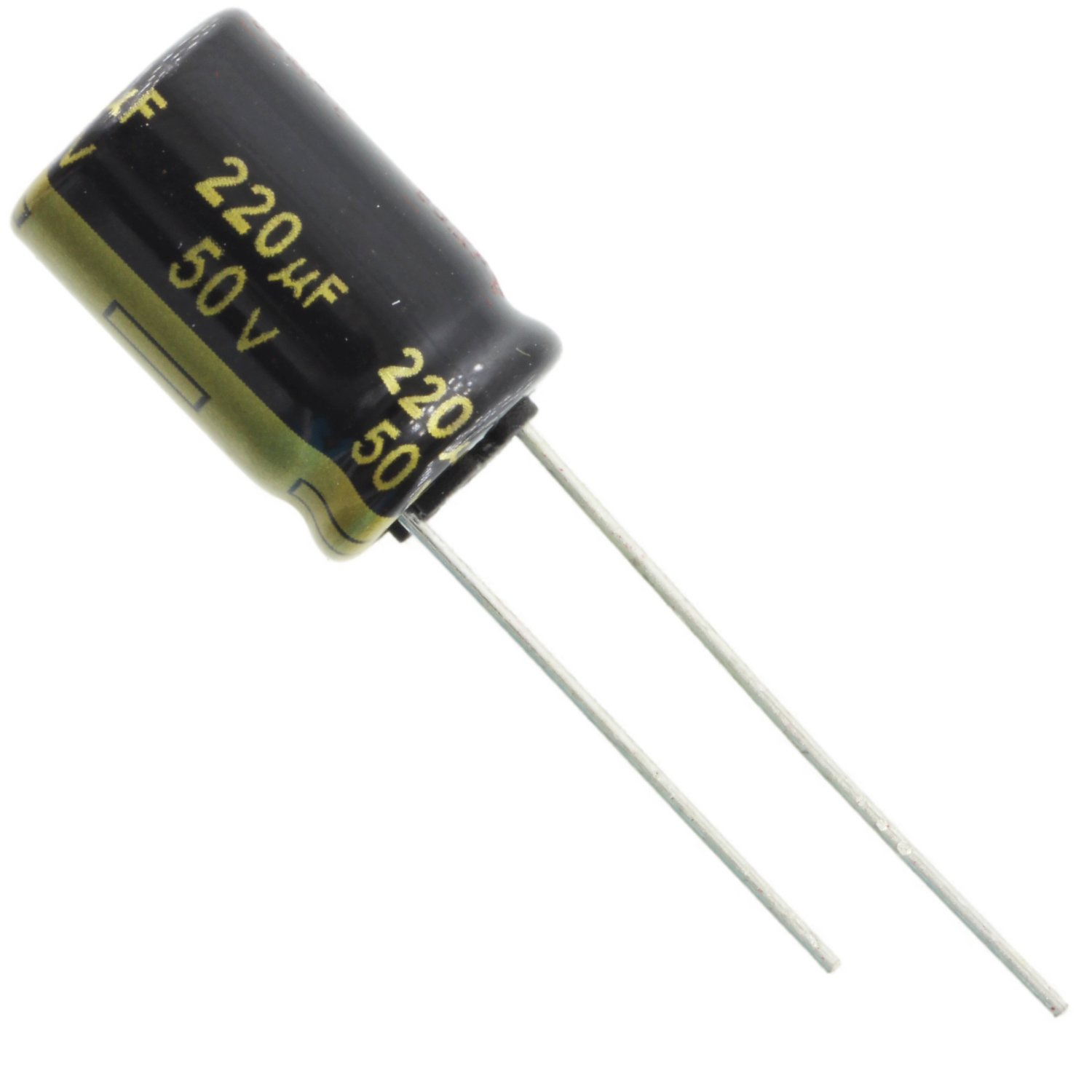 Panasonic FM Series 105C Electrolytic Capacitor, 220uF @ 50V, Radial Leads