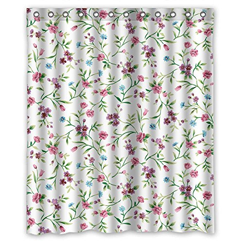 Price comparison product image MaSoyy The Flower Shower Curtains Of Polyester Width X Height / 60 X 72 Inches / W H 150 By 180 Cm Decoration Gift For Family Artwork Kids Lover Teens. Water Repellent (fabric)