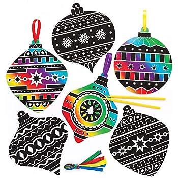be3e94780 Amazon.com: Baker Ross Festive Friends Scratch Art Magnets (Pack of ...
