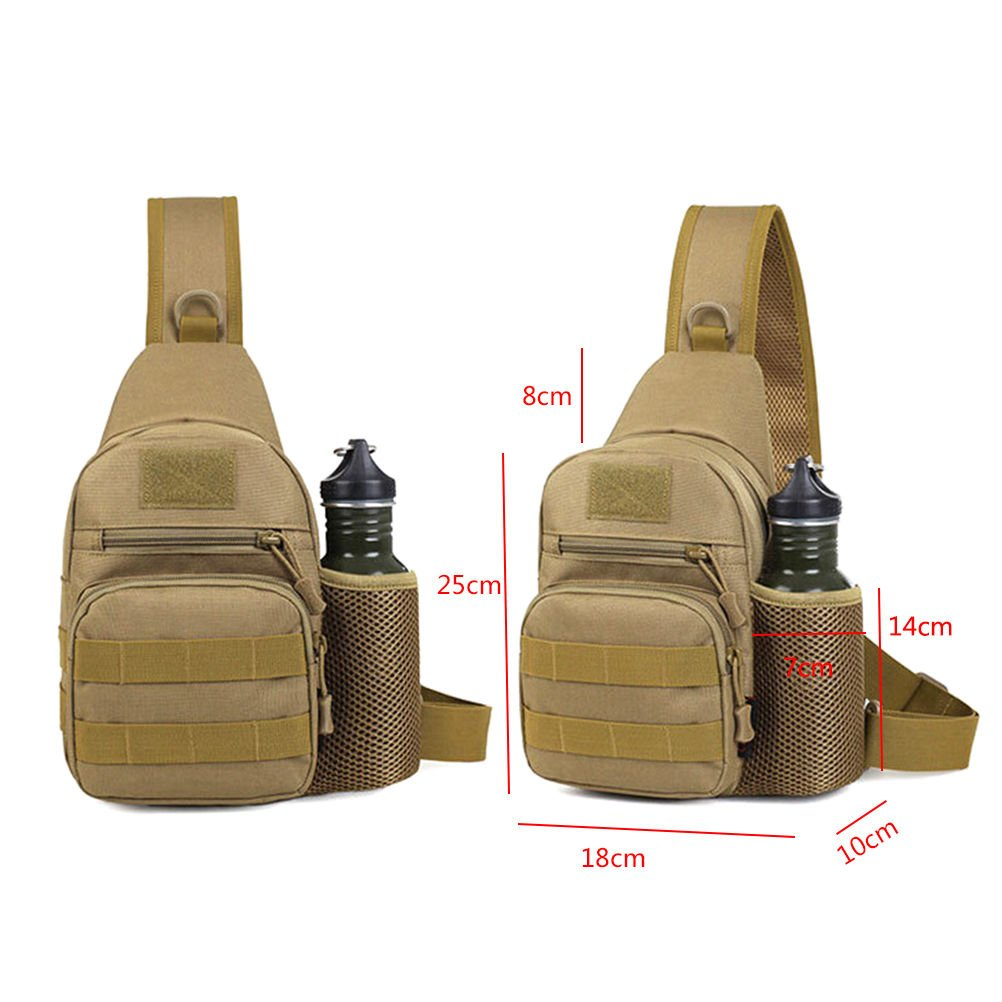 Pertop Tactical Sling Bag Pack Military Rover Shoulder Sling Backpack Molle ccef2ff5a0920