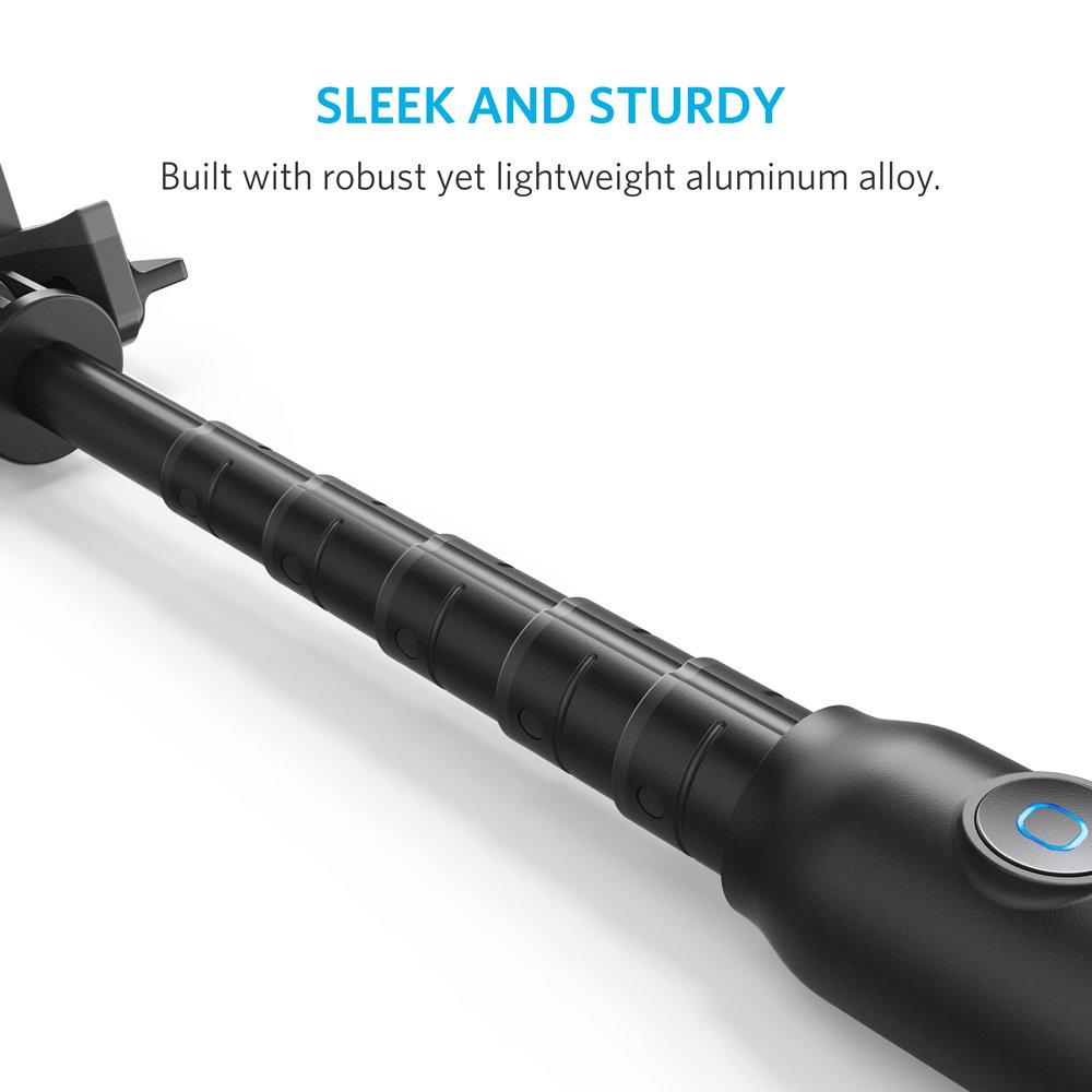 Selfie Stick, Anker Bluetooth Highly-Extendable and Compact Handheld Monopod with 20-Hour Battery Life for iPhone X/8/8 Plus/7/7 Plus/Se/6s/6/6 Plus, Galaxy S8/S7/S6/Edge, LG G5, Pixel 2 and More by Anker (Image #3)