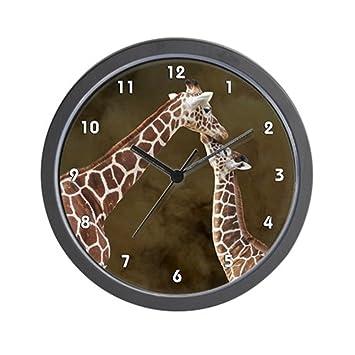 "CafePress diseño de jirafa mamá bebé madera reloj. PNG – Unique decorative 10 """