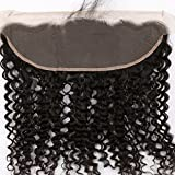 Sent Hair 13x4 Lace Frontal Closure with Baby Hair Free Part Ear to Ear Curly Wave Brazilian Virgin Human Hair Frontal Natural Color 12 inch
