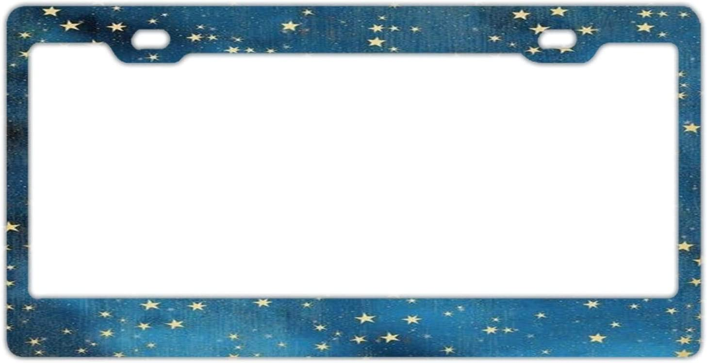 Stainless Metal License Plate Cover Automotive License Plate Frame Holder//Bracket