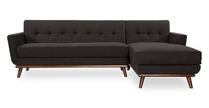 amazon com kardiel rf charcoal jackie mid century modern sectional rh amazon com vintage mid century modern sectional sofa