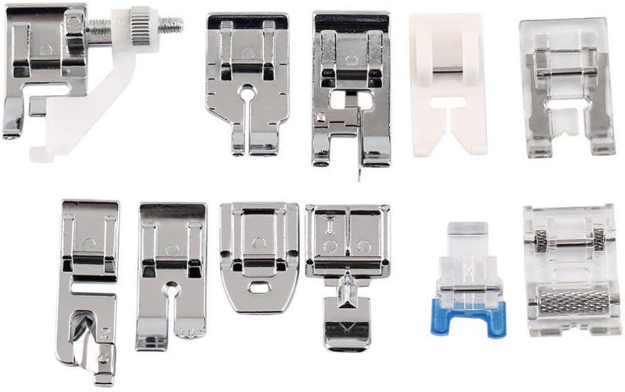 Kit 11 x prensatelas pie pies Fruncidor universales para máquinas ...