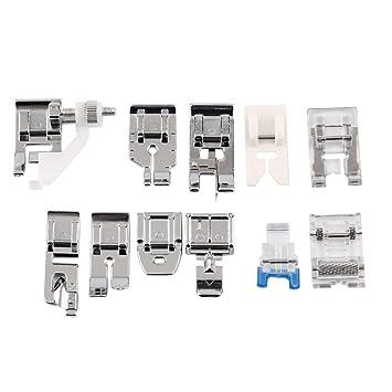 Kit 11 x prensatelas pie pies Fruncidor universales para máquinas de coser: Amazon.es: Electrónica