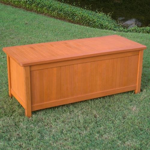 Storage Chest Trunk Makes a Perfect Outdoor Patio Box by International Caravan