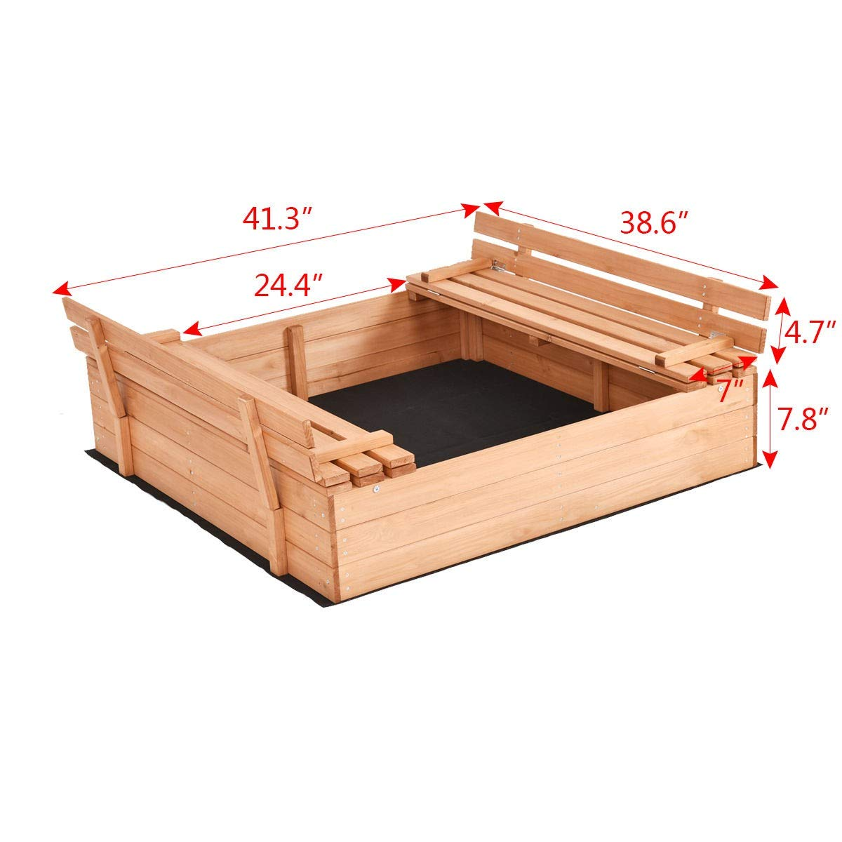 USA_BEST_SELLER Children Outdoor Foldable Retractable Sandbox Bench Seat Box by USA_BEST_SELLER (Image #8)