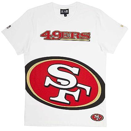 f4e23e515d339 NEW ERA NFL Big Logo Camiseta de San Francisco 49ers Color Blanco ...