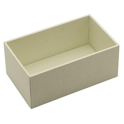Savvy bandejas pequeñas crema tela de profundidad abierto Cardigan bandeja para apilables de almacenamiento y joyas