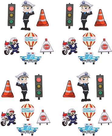 Amosfun Veicolo Cupcake Toppers Camion Trattore Cupcake Topper per Bambini Compleanno Baby Shower Decorazioni per Feste Forniture 18 Pz