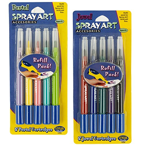 Kole Imports PB766 PB766 Spray Art Airbrush Pen Refill Ca...